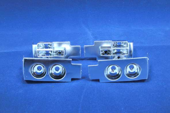 Chrome cups light set Fiat 131
