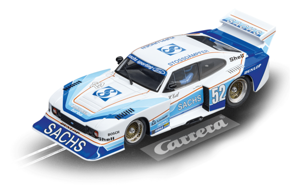 "Carrera Evo Ford Capri  Zackspeed Turbo ""Sachs Sporting, No. 52"" 1/32"